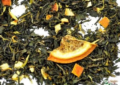 Weißer Tee mit Blutorange Pfefferminz Geschmack
